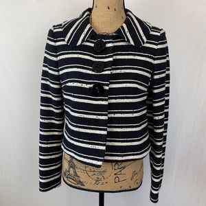 Milly of New York Cropped Tweed Jacket Size 2
